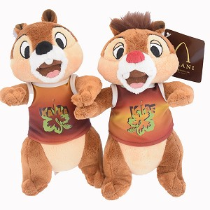 Disney Plush Set - Hawaiian Chip and Dale - Aulani - 9''