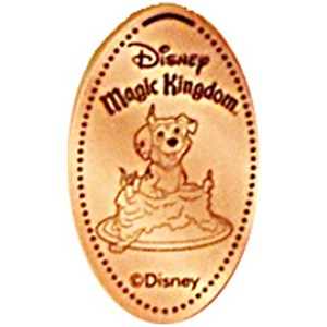 Disney Pressed Penny - Dalmatian with Cake