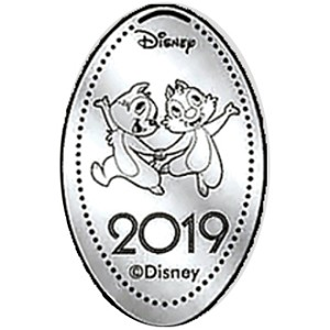 Disney Pressed Quarter - 2019 Chip and Dale
