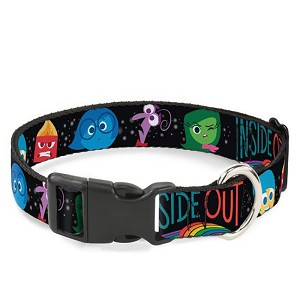Disney Designer Breakaway Pet Collar - Inside Out - Character Expressions - Every Day is Full of Emotions