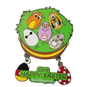 Disney Easter Pin - 2019 HAPPY EASTER Characters in Eggs Dangle