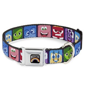 Disney Designer Pet Collar - Inside Out -  Character Expression Blocks