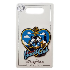 Disney Yacht Club Resort Pin - Captain Mickey and Minnie Mouse Sharing an Anchor