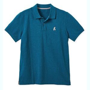 7b917a6a Disney Men's Shirt - Mickey Mouse Pique Cotton Polo - Heathered Teal