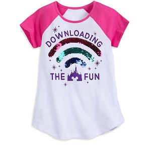 Disney Girls Shirt - Downloading the Fun - Reversible Sequins