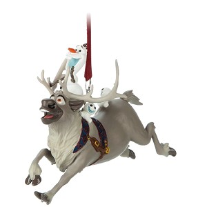 Disney Ornament - Olaf & Snowgies riding Sven