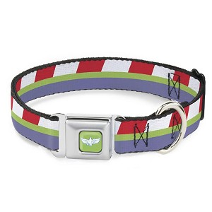 Disney Designer Pet Collar - Buzz Lightyear Space Ranger Stripes - Toy Story 4