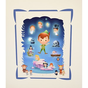 Disney Deluxe Artist Print - Off to Never land by Jerrod Maruyama