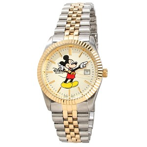 Disney Wrist Watch - Mickey Mouse - Two-Tone Hands - Large