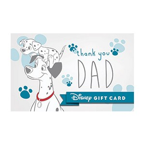 Disney Collectible Gift Card - Dalmatian Dad - Father's Day