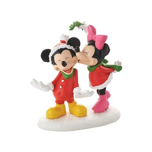 Disney Village Figure - Mickey's Christmas Kiss