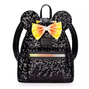Disney Loungefly Mini Backpack - Candy Corn - Sequined w/ Mouse Ears