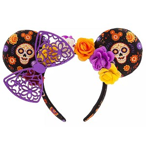 Disney Minnie Mouse Ear Headband - Dia De Los Muertos