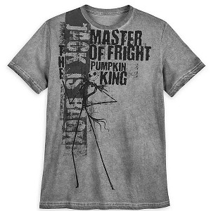 Disney Men's Shirt - Jack Skellington Pumpkin King - Master of Fright