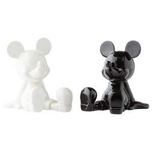Disney Salt and Pepper Shaker Set - Black and White Mickey Mouse