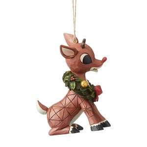 Rudolph by Jim Shore Ornament - Rudolph with Wreath