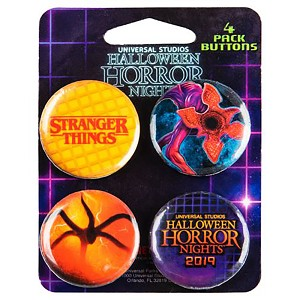 Universal Button Set - Stranger Things - Halloween Horror Nights 2019