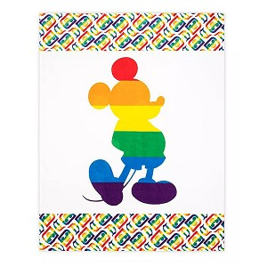 Disney Fleece Throw - Mickey Mouse Disney Parks Rainbow