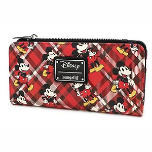 Disney Loungefly Bag - Mickey Mouse Red Plaid Twill Wallet