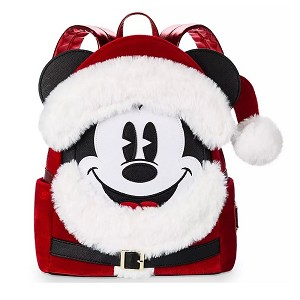 Disney Loungefly Bag - Santa Mickey Mouse - Mini Backpack