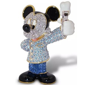 Disney Arribas Jeweled Figurine - Mickey Mouse Dentist