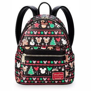 Disney Parks Loungefly Mini Backpack Bag - Disney Parks Holiday Food Icons Snacks
