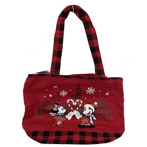 Disney Tote Bag - Holiday 2019 - Mickey & Minnie Mouse - Candy Cane Heart