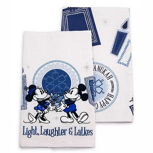 Disney Kitchen Towel Set - Mickey and Minnie Mouse Chanukah