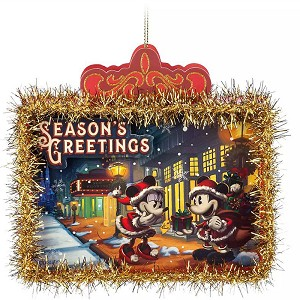 Disney Paper Ornament - Mickey and Minnie Mouse - Turn of the Century