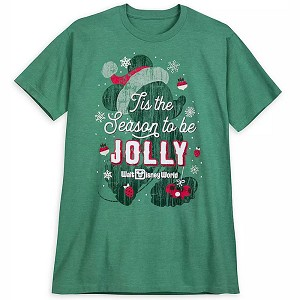 Disney Adult Shirt - Mickey Mouse Jolly Holiday
