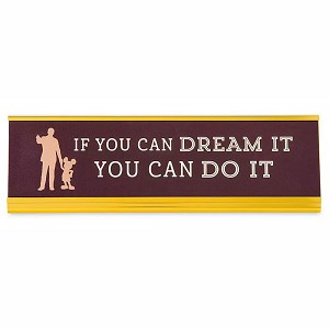 Disney Nameplate - Walt Disney - If You Can Dream It You Can Do It