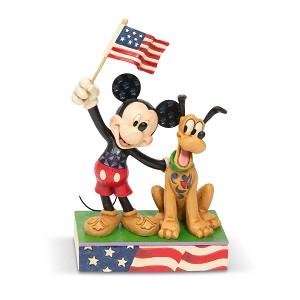 Disney Traditions by Jim Shore - Mickey and Pluto Patriotic