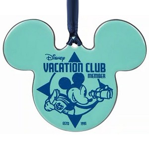 Disney Disc Ornament - Mickey Mouse Ears Icon - Disney Vacation Club Member