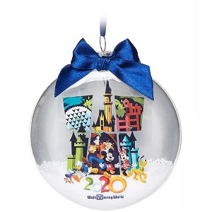 Disney Ornament - Mickey Mouse & Friends - Glass Disk Snowglobe