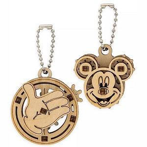 Disney UGears Wooden Puzzle Keychain Set - Mickey Mouse