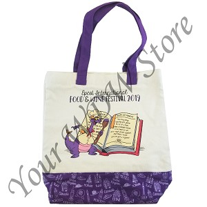 Disney Reusable Tote Bag - 2019 Epcot Food and Wine - Figment Recipe