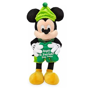 Disney Plush - Mickey Mouse - Happy St. Patrick's Day 2020 - 12''