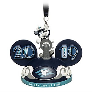 Disney Ear Hat Ornament - Disney Cruise Line 2019 Mickey Mouse