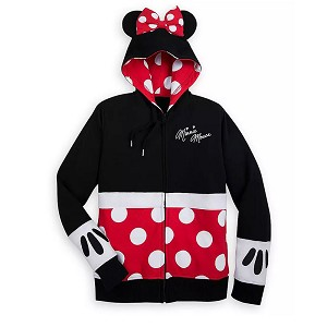 Disney Women's Zip Up Hoodie - Minnie Mouse