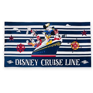Disney Beach Towel - Captain Mickey & Friends - Disney Cruise Line