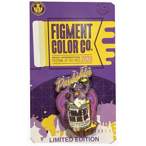 Disney Pin - Festival of the Arts - Figment - PASSHOLDER - Limited Edition