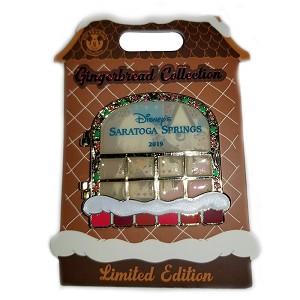 Disney Gingerbread House Pin - 2019 Saratoga Springs - Princess Belle