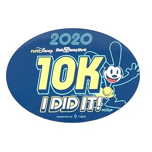 Disney Car Magnet - 10K - I DID IT! - runDisney 2020 - Oswald