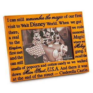 Disney Picture Frame - I Remember Wood - 4