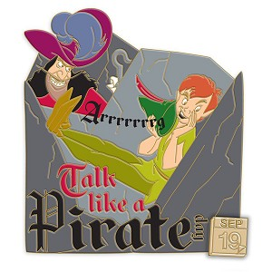 Disney Pin - Celebrate Today - 09 - Peter Pan and Captain Hook - Talk Like a Pirate Day 2020