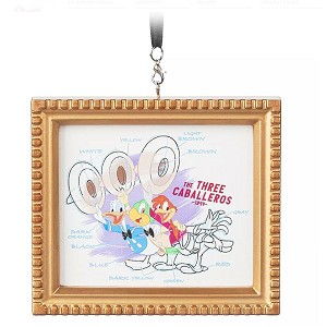 Disney Framed Canvas Ornament - The Three Caballeros - Ink & Paint
