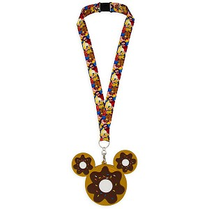 Disney Lanyard & ID Holder - Mickey Mouse Donut