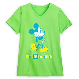 Disney Women's Shirt - Classic Mickey Mouse - Neon Green