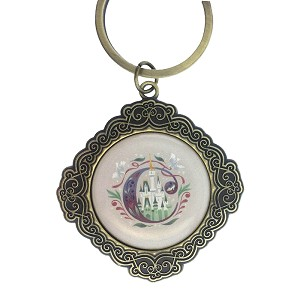 Disney Keychain Keyring - Initial Mickey Mouse - C Is for Cinderella Castle