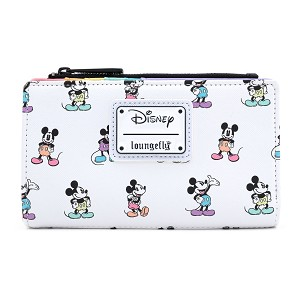 Disney Loungefly Flap Wallet - Mickey Mouse Pastel Poses